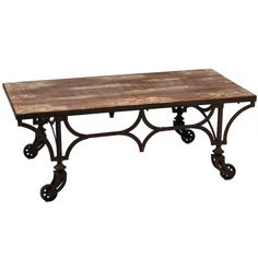 Hemingway Coffee Table Finish: Distressed, Antique Brown