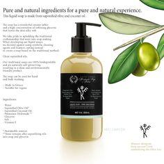 Natural Liquid Soap - Pure Unscented, 250ML