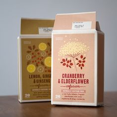 Marks & Spencer caffeine free infusions. Nice earthy pastel colored packaging.