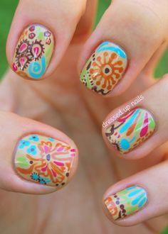paisley nail designs - Google Search