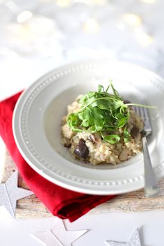 Paddestoelen risotto Plant Based Recipes, Veggie Recipes, Vegetarian Recipes, Veggie Food, Love Food, A Food, Food And Drink, Xmas Dinner, English Food
