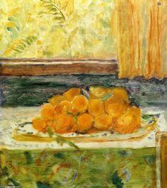 """""""Nature morte avec citrons"""", huile sur toile de Pierre Bonnard (1867-1947, France)"""