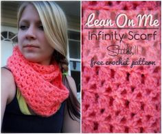 Lean on Me – Free Crochet Infinity Scarf Pattern