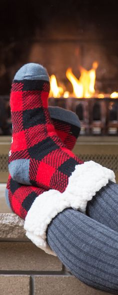 Walk on a cloud. Faux shearling lining makes Pudus' colorful slipper socks, discovered by The Grommet, warm and extra cozy.