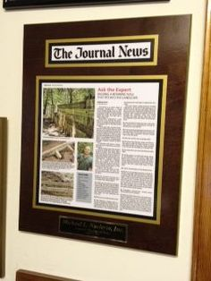 newspaper plaques can tell more about a business than any other advertising campaign article display plaques preserve and grow your business
