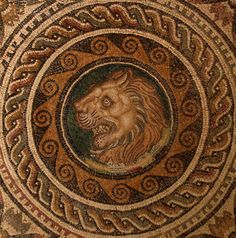 Lions in Ancient Mosaic Art – Cyprus, El Jem, Israel, Libya, Naples, Pella, Pompeii, Sicily, Tunis, Venice | Mosaic Art Source