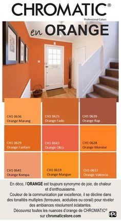 En déco, l'ORANGE est toujours synonyme de joie, de chaleur et d'enthousiasme. Couleur de la communication par excellence, il se décline dans des tonalités multiples (terreuses, acidulées ou corail) pour révéler des ambiances résolument éclatantes. Découvrez toutes les nuances d'orange de CHROMATIC® sur www.chromaticstore.com #déco #inspiration #orange