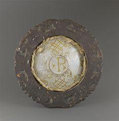 Musée d'Ecouen. Assiette: scène de chasse. ECL2138. Giocomo Mancini dit El Frate. Vers 1540-1545. Revers. DERUTA.