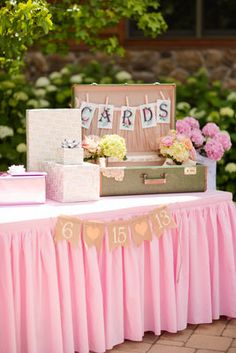 card table decorations, card table, card table ideas, victorian, southern wedding, pink and green wedding