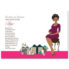 Unique African American Baby Shower Invitations from #Soulfulmoon- Chic Mommy