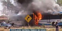Galdino Saquarema Noticia: Seis ônibus foram queimados e 12 foram depredados em um protesto contra as condições precárias do transporte público na região