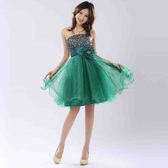 Teal Junior Bridesmaid Dresses 1