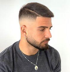 Mens Hairstyles Fade, Cool Hairstyles For Men, Cool Haircuts, Haircuts For Men, Men's Hairstyles, Short Fade Haircut, Short Hair Cuts, Military Haircuts Men, Gents Hair Style