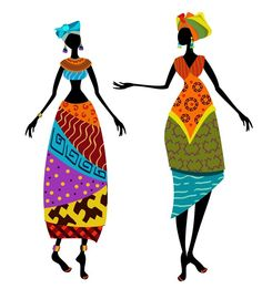 Illustration of Beautiful African woman in traditional costume vector art, clipart and stock vectors. Art Mural Africain, African Wall Art, Beautiful African Women, Wall Art Prints, Canvas Prints, Afrique Art, African Paintings, Wall Art For Sale, African Design