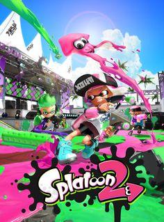 Póster Splatoon 2 (Nintendo Switch) #Splatoon2 #Nintendo #Shooter #Inklings #NintendoSwitch #Switch