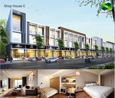 Want to have beautiful shop house where you can run business, check it out Shop House C of the Chip Mong Land. # Mao Tse Tung Blvd, Phnom Penh or tel: 61 997 8997 997 888 Facade Design, Exterior Design, Mall Design, House Design, Retail Facade, Commercial Complex, Mix Use Building, Architecture Office, Facade House