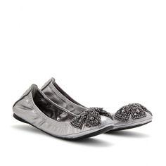 Tory Burch silver ballets