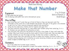 Teaching Maths with Meaning: Math Game Monday
