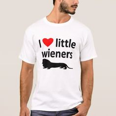 #LOVE LITTLE WIENERS TEE - #dachshund #puppy #dachshunds #dog #dogs #pet #pets #cute