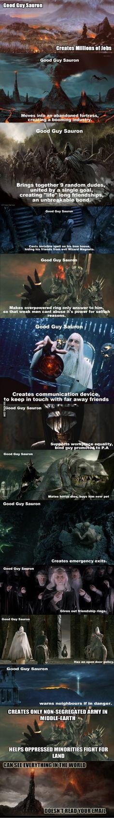 Good Guy Sauron. Long post no potato.