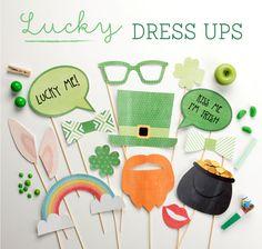 Lucky Dress Ups Printables // St Patricks Day
