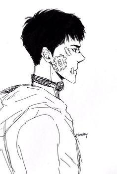 Exo Fan Art, Copic, Sehun, Chibi, Anime, Guy, Sticker, Husband, Draw