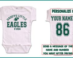 Philadelphia eagles cloth baby booties baby booties babies and tw v sports eagles baby jersey customized personalized infant shirt jersey philadelphia gear outfit bodysuit clothes negle Image collections