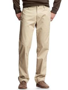 For Josh, click tall.  He wears 34/36LThe classic khaki (straight fit) Chino caramel and gray