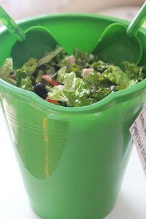 salad in a beach bucket from les petits présents: summer food fun