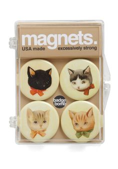 Cats and magnets! Is it weird that I love magnets just about as much as I love my kitties?
