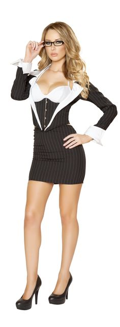 Roxanni 4552 3pc Sassy Secretary Costume by Roma  Halloween Costume