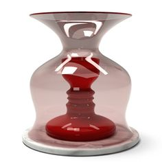 Audrey Vase, designed for Established and Sons, made by Venini Dezeen, In The Tree, Cherry Red, Red Glass, Glass Design, Ruby Red, Hand Blown Glass, 3d Printing, Sweet Home
