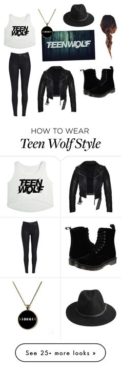 """""""Teen Wolf"""" by s8getayl0r on Polyvore featuring Dr. Martens and BeckSöndergaard Teen Wolf Outfits, Swag Outfits For Girls, Cute Outfits For School, Cool Outfits, Casual Outfits, Tv Show Outfits, Fandom Outfits, Teen Fashion, Love Fashion"""