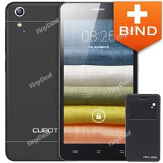 """CUBOT X9 5\"""" IPS HD MTK6592M Octa Core Android 4.4 3G Phone + Flip Case with View Window for X9 KB-378018"""