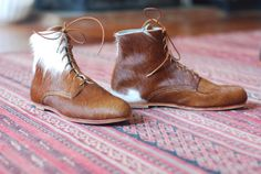 Handmade Pony Derby Boots by lilarts on Etsy, $600.00 - definitely not vegan, but these look awesome