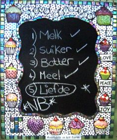 Cupcake Blackboard Kit030 - Products - The Clay Club - Weavind Park, Silverton, Pretoria