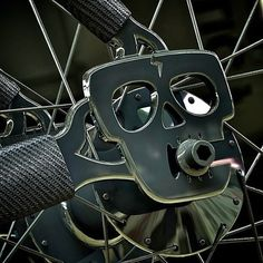 skull bicycle dropouts. machined metal