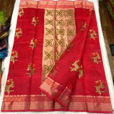 *Pure Silk Kota Weaving Saree With Running Blouse*  ₹4100+$ Order what's app 7093235052