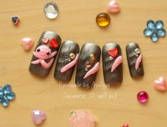Octopus 3D nails wacky things from japan by Aya1gou on Etsy, $18.50