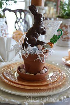 Easter bunny table decor