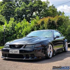bagged Saleen is loaded with performance mods from StangMods! What's your next bolt on going to be? Sn95 Mustang, New Edge Mustang, Saleen Mustang, Lexus Es, Allen Iverson, Car Tuning, Car Photos, Cars And Motorcycles, Dream Cars