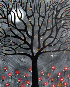 Wishing Tree ... Acrylics on canvas.
