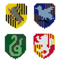 Harry Potter: Hogwarts Crests Patterns by HappyCupcakeCreation
