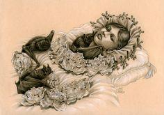 The Awakening of a Vampire Child by Zoe-Lacchei.deviantart.com on @deviantART