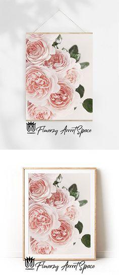 David Austin Roses, Big Photo, Rose Photography, White Colors, Wall Decor, Wall Art, Pink Peonies, Quote Prints, Handmade Shop