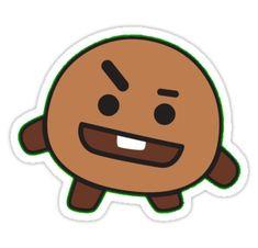 Pegatinas «BT21 - SHOOKY» de ZALDROV STORE | Redbubble Pop Stickers, Tumblr Stickers, Printable Stickers, Bts Chibi, Bts Drawings, Kawaii Drawings, Bts Emoji, Kpop Logos, Kpop Diy