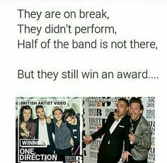 Award for biggest boyband goes to. One Direction. THIS FANDOM STRIKES AGAIN! <<< they are amazing and I'm glad to know that we will always be with them no matter what! One Direction Fandom, One Direction Quotes, One Direction Videos, One Direction Pictures, I Love One Direction, First Love, My Love, 1d And 5sos, Story Of My Life