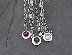 Garnet, Iolite and Pink Amethyst necklaces by Jill Endicott