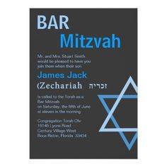 Modern Bar Mitzvah Invitiation with Hebrew Name Custom Invitations Yes I can say you are on right site we just collected best shopping store that haveThis Deals          Modern Bar Mitzvah Invitiation with Hebrew Name Custom Invitations Review on the This website by click the button ...