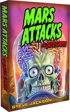 Mars Attacks the Dice Game. Cool looking Martians and dice. How bad could that be?